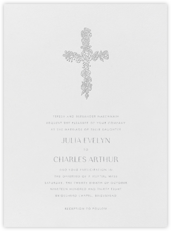Thérèse I (Invitation) - Platinum - Paperless Post - Wedding Invitations