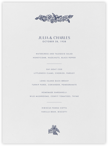 Thérèse I (Menu) - Navy - Paperless Post -