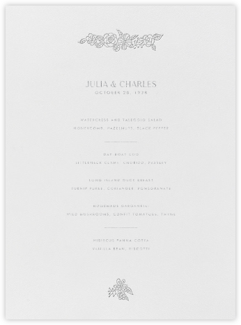 Thérèse I (Menu) - Platinum - Paperless Post - Wedding menus and programs - available in paper