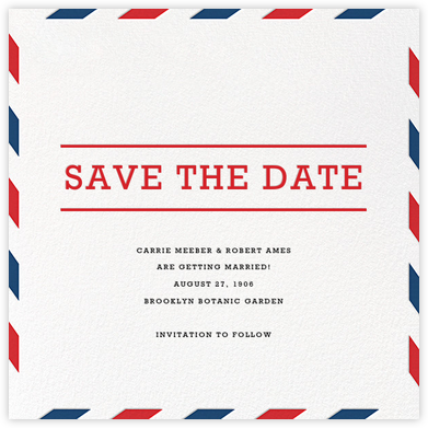 Par Avion (Save the Date) - Paperless Post - Save the dates