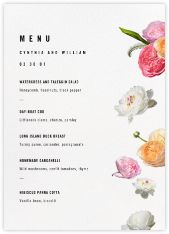 Brunswick (Menu) - Paperless Post - Wedding menus and programs - available in paper