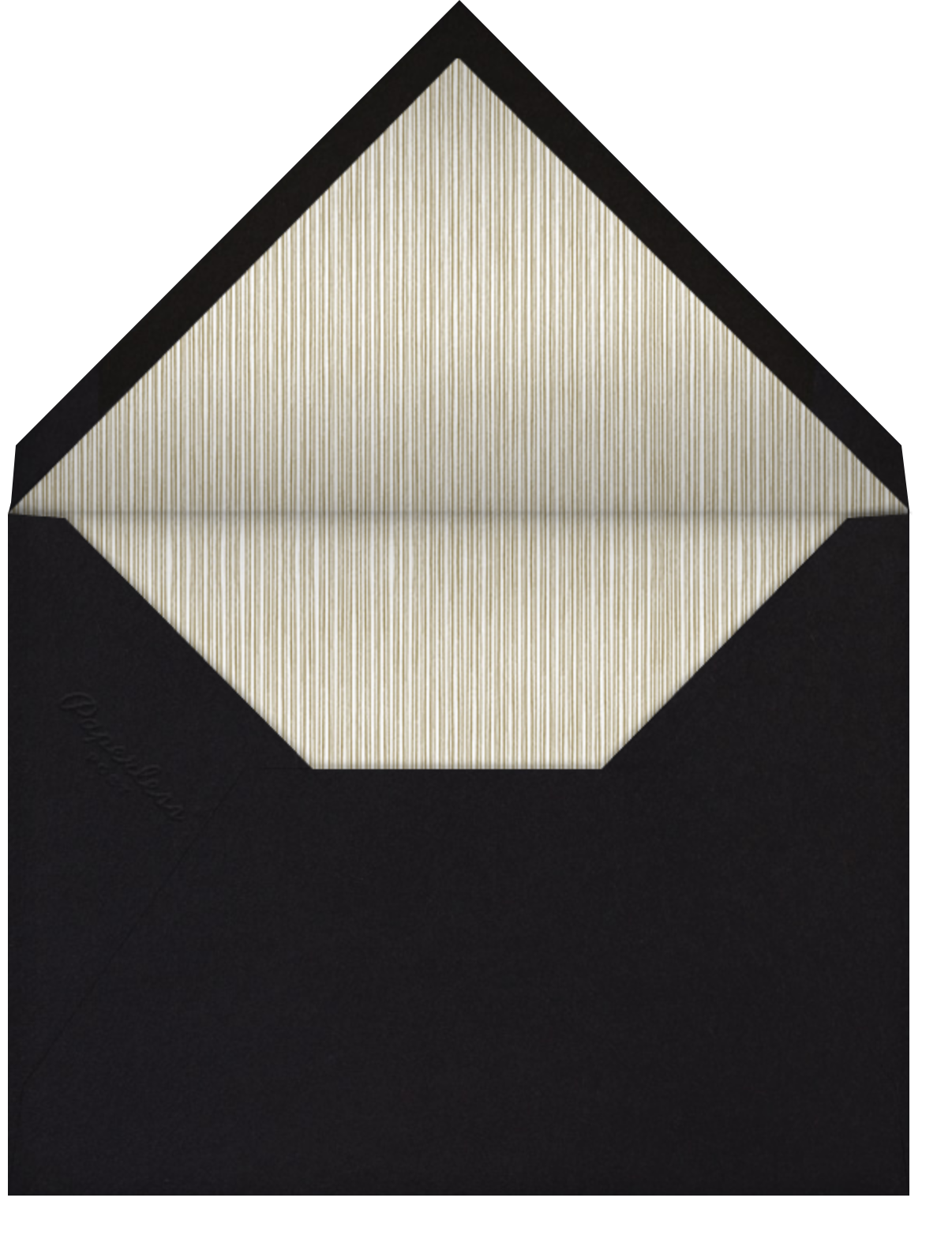 Oro (Black) - Paperless Post - Destination - envelope back