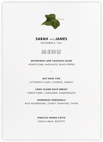 Berkshire (Menu) - Paperless Post - Wedding menus and programs - available in paper
