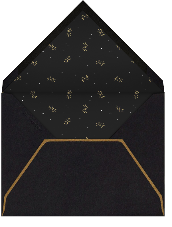 Oro (Black) - Paperless Post - New Year's Eve - envelope back