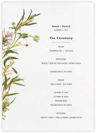 Rhône (Program) - Paperless Post - Wedding menus and programs - available in paper