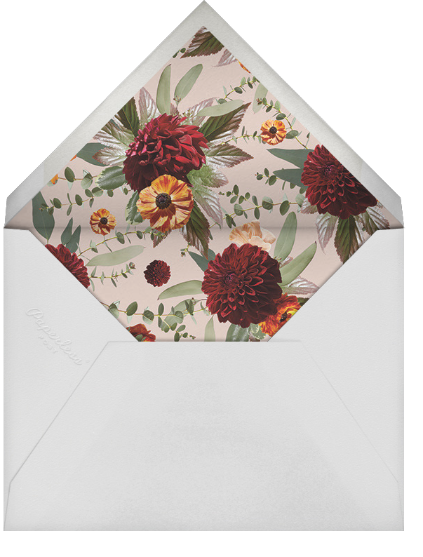 Leiden (Photo Save the Date) - Black - Paperless Post - Photo  - envelope back