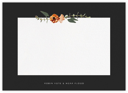 Leiden (Stationery) - Black - Paperless Post - Personalized Stationery