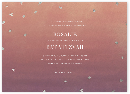 L'Heure Bleue - Silver - Paperless Post - Bar mitzvah and bat mitzvah invitations