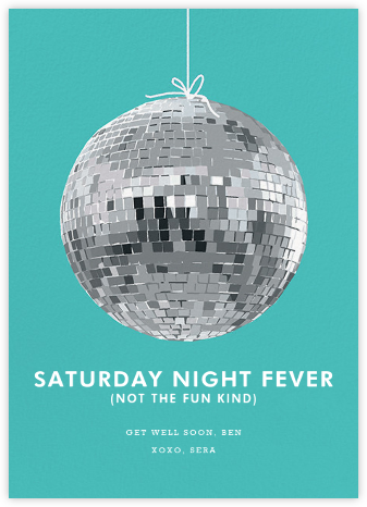 Disco Ball - Hannah Berman - Adult birthday invitations