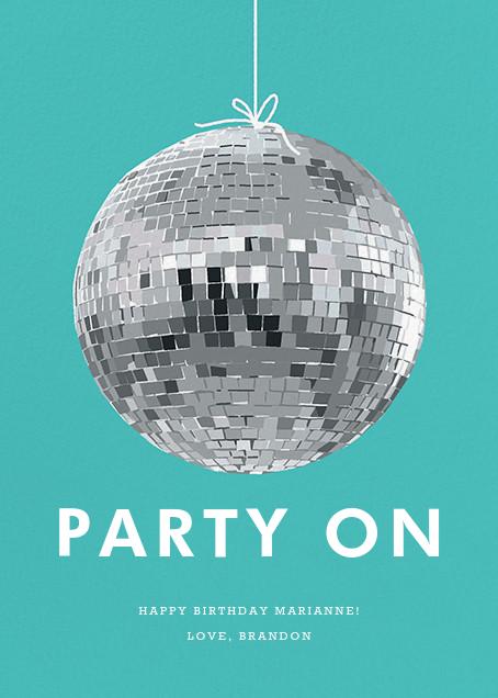 Disco Ball - Hannah Berman - Birthday cards
