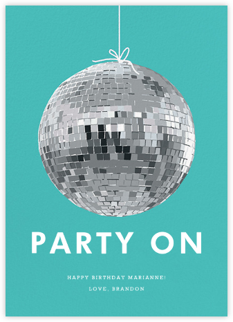 Disco Ball - Hannah Berman - Birthday cards