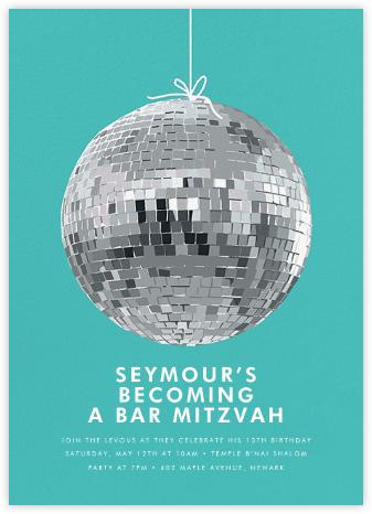 Disco Ball - Hannah Berman - Bar mitzvah and bat mitzvah invitations