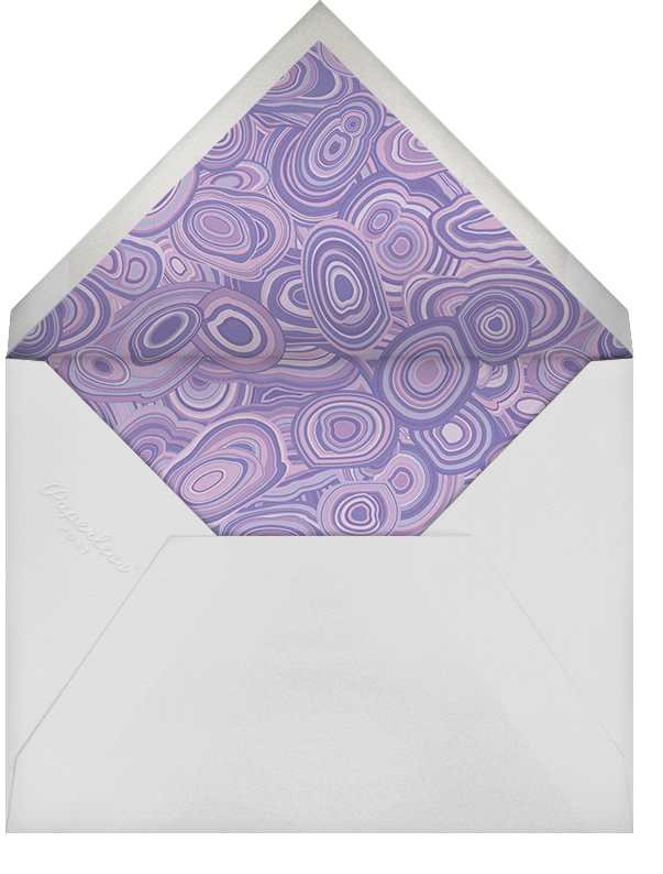 Malachite (Invitation) - Purple - Jonathan Adler - Bar and bat mitzvah - envelope back