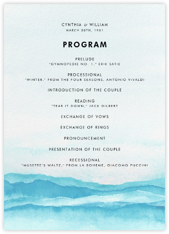 Piedmont (Program) - Paperless Post - Wedding menus and programs - available in paper