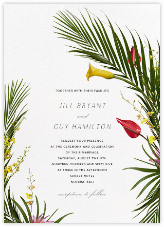 Malacca (Invitation) - Paperless Post - Destination wedding invitations