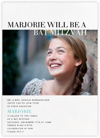 Accomplished - White - Paperless Post - Bar mitzvah and bat mitzvah invitations