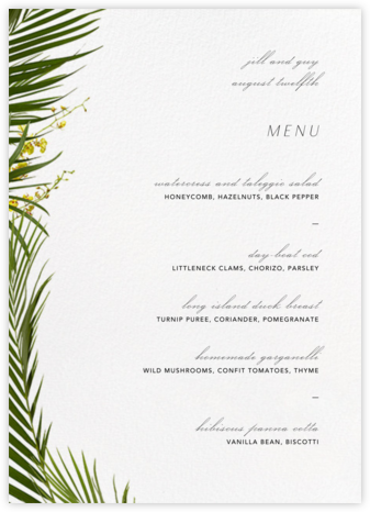 Malacca (Menu) - Paperless Post - Wedding menus and programs - available in paper