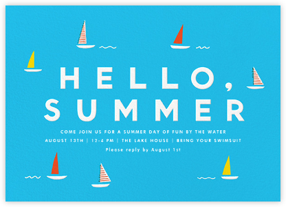 Let's Go Sailing - The Indigo Bunting - Summer Party Invitations