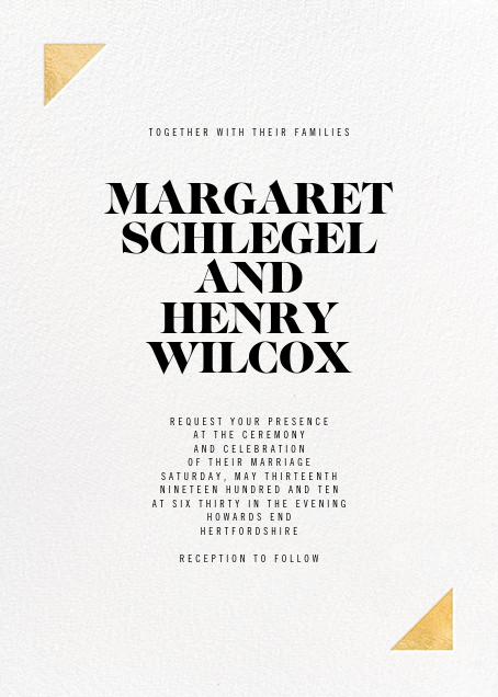 Palermo (Invitation) - Gold - Paperless Post - Modern wedding invitations