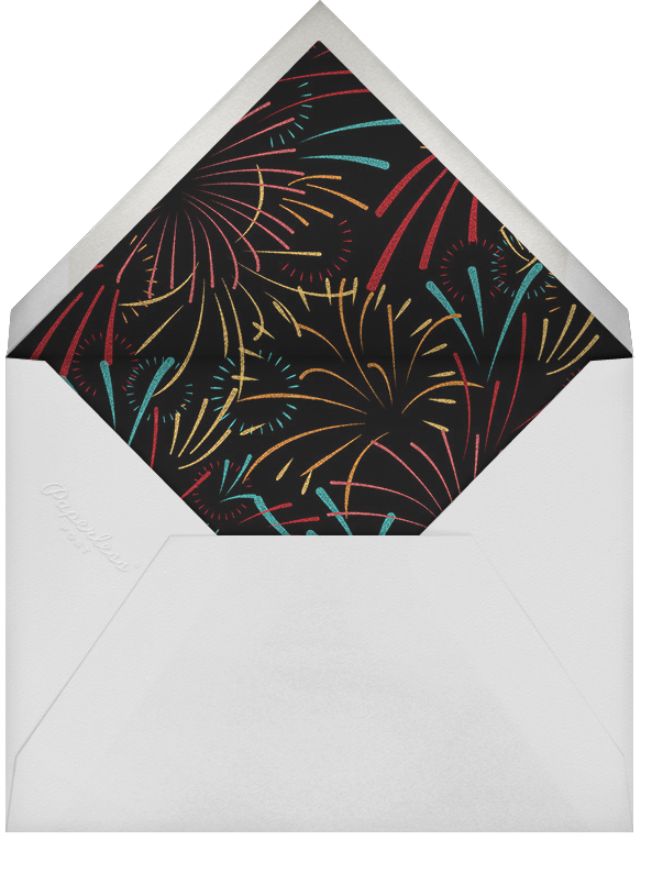 Skybursts - White - Paperless Post - Canada Day - envelope back