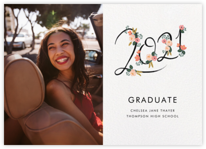 Botanic Year Photo - White - Rifle Paper Co. - Online College Graduation Announcements