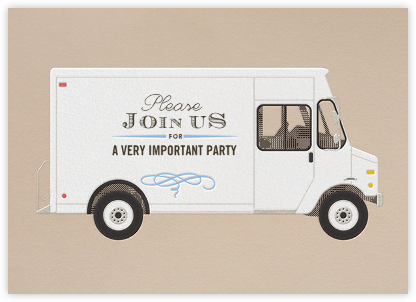 Join Us - Delivery Truck - Paperless Post - General Entertaining Invitations
