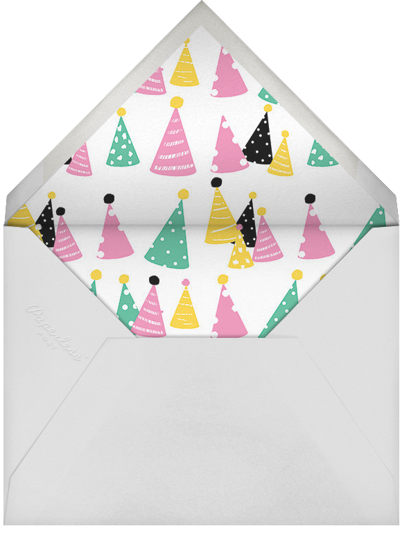 High Hats - Ashley G - Adult birthday - envelope back