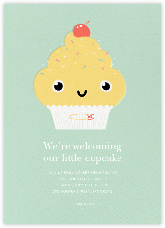 Our Little Cupcake - Yellow - Paperless Post - Baby shower invitations