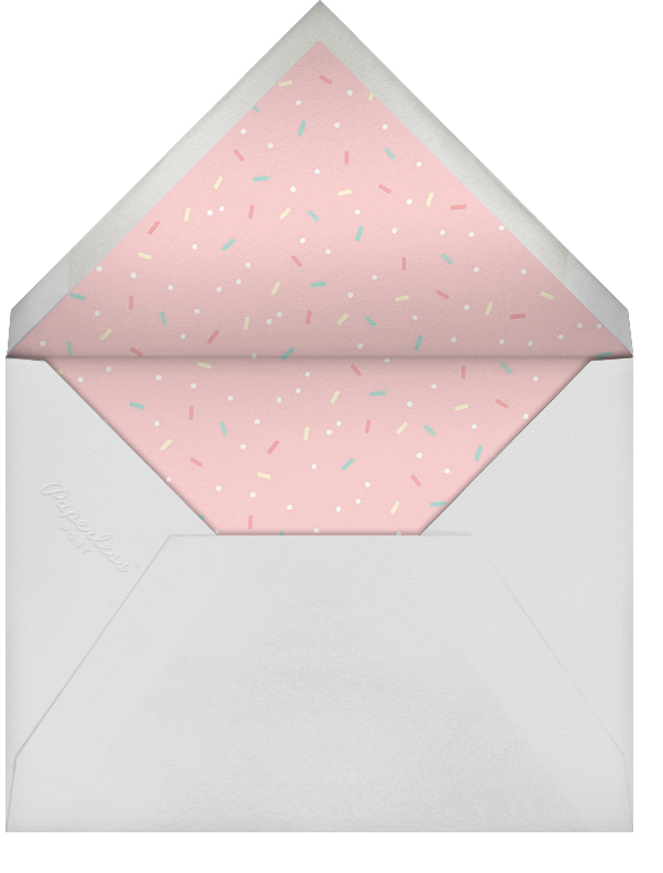 Our Little Cupcake - Pink - Paperless Post - Baby shower - envelope back