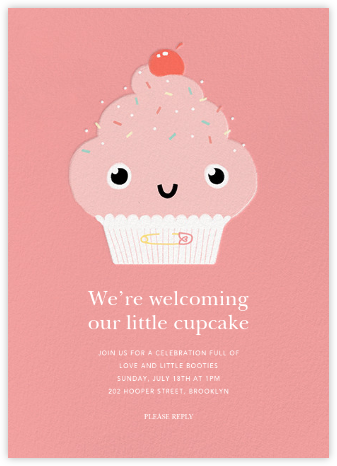 Our Little Cupcake - Pink - Paperless Post - Baby shower invitations