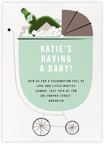 A Fine Vintage - Mint - Paperless Post - Baby shower invitations