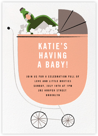 A Fine Vintage - Sherbet - Paperless Post - Baby shower invitations