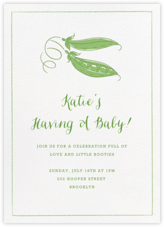 Peas in a Pod - Paperless Post - Baby Shower Invitations