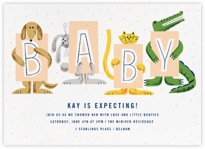 Welcoming Committee - Paperless Post - Baby shower invitations