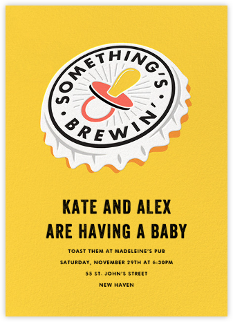 Something's Brewin' - Paperless Post - Baby shower invitations