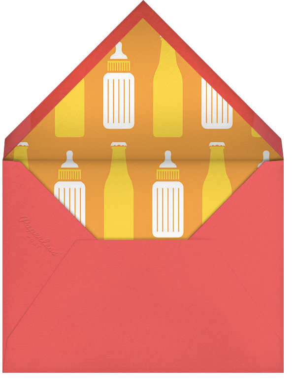 Something's Brewin' - Paperless Post - Baby shower - envelope back