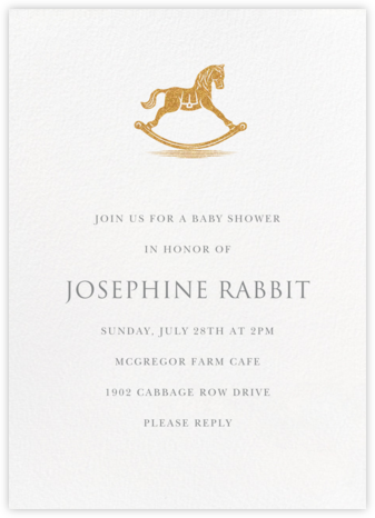 Rocking Horse - Paperless Post - Baby Shower Invitations