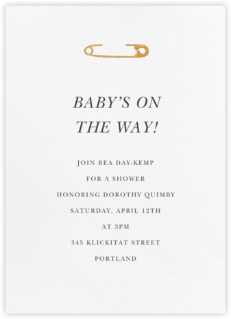 Safety First - Paperless Post - Baby Shower Invitations