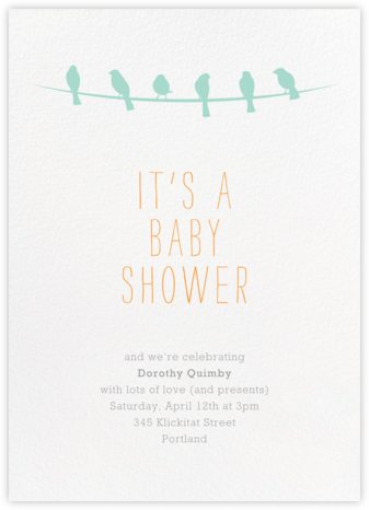 Talk of the Flock - Paperless Post - Online Baby Shower Invitations