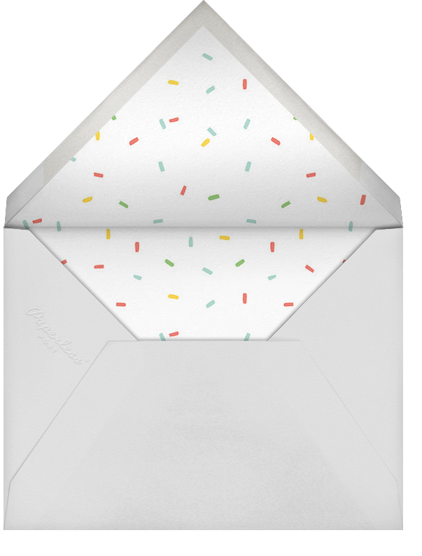 Furfetti - Mint/Silver - Paperless Post - Woodland baby shower - envelope back