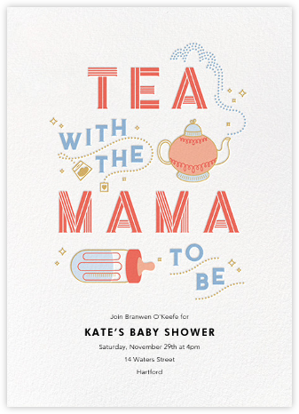 Little Teapot - Paperless Post - Baby Shower Invitations