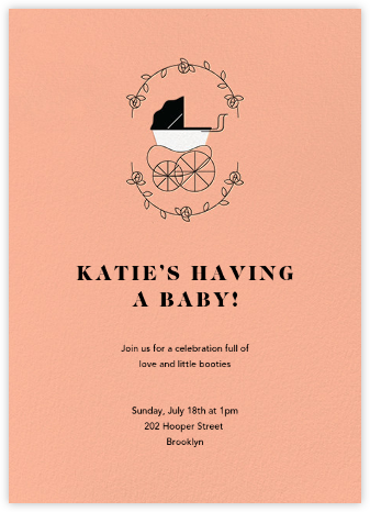 Pram Time - Sherbet - Paperless Post - Baby Shower Invitations