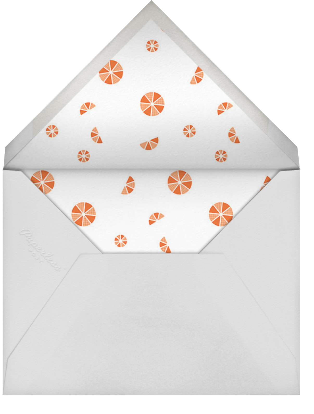 Citrus Fizz - Silver - Paperless Post - Wedding brunch - envelope back