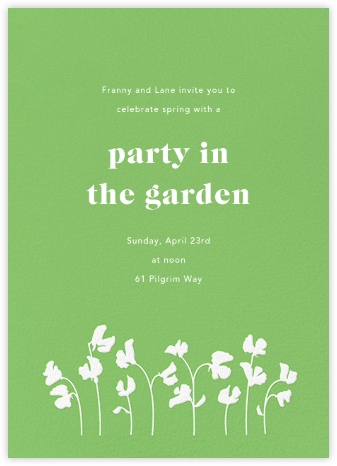 First Bloom - Meadow - Paperless Post - Online Party Invitations