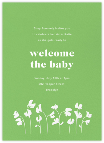 First Bloom - Meadow - Paperless Post - Celebration invitations