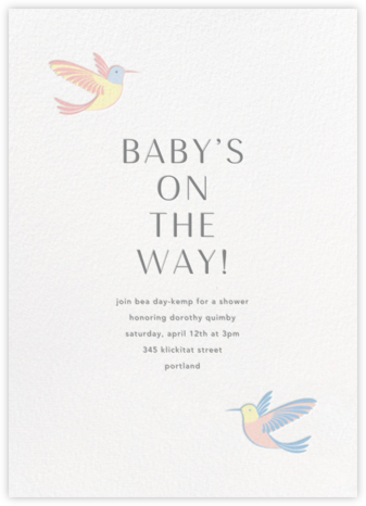 Hummingbirds - Multi - Paperless Post - Baby Shower Invitations
