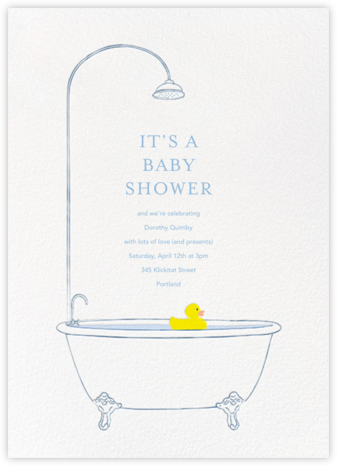 Lucky Duck - Paperless Post - Online Baby Shower Invitations