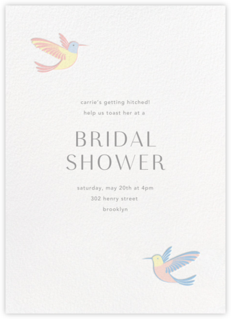 Hummingbirds - Multi - Paperless Post - Bridal shower invitations