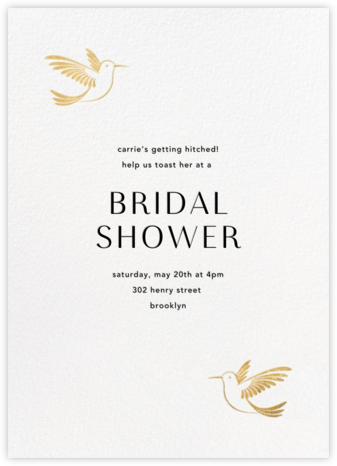 Hummingbirds - Gold - Paperless Post - Bridal shower invitations