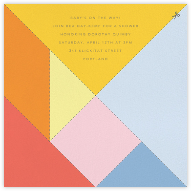 Tangram - Paperless Post - Celebration invitations